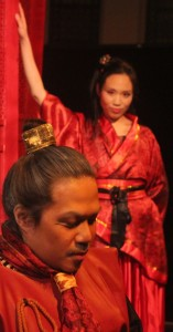 Angelo Paragoso as DongZhuo and Michelle Yim as DiaoChan